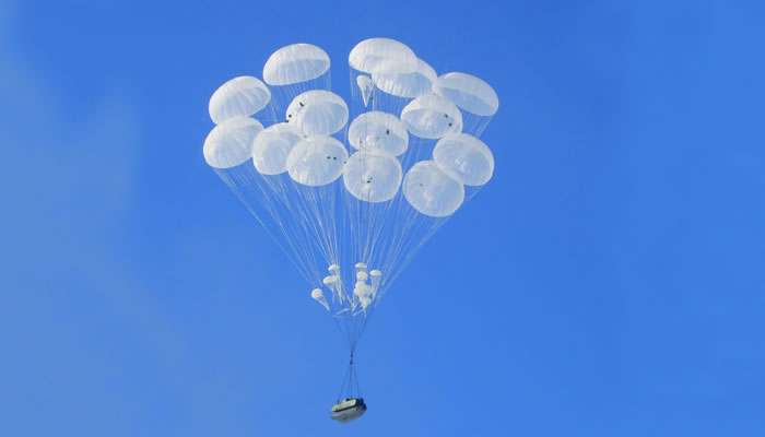 The parachute systems for paradrop of armaments, military vehicles and various cargo